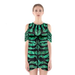 Skin2 Black Marble & Green Marble Shoulder Cutout One Piece