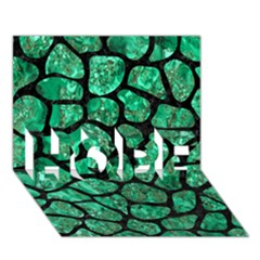 Skin1 Black Marble & Green Marble (r) Hope 3d Greeting Card (7x5) by trendistuff