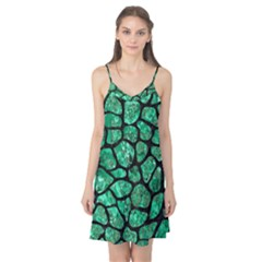 Skin1 Black Marble & Green Marble (r) Camis Nightgown
