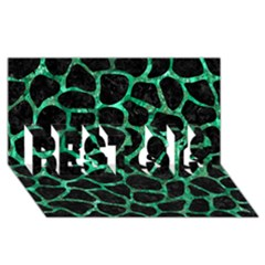 Skin1 Black Marble & Green Marble Best Sis 3d Greeting Card (8x4)