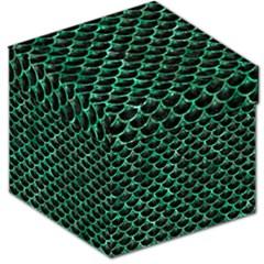 Scales3 Black Marble & Green Marble (r) Storage Stool 12  by trendistuff