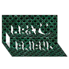 Scales2 Black Marble & Green Marble (r) Best Friends 3d Greeting Card (8x4) by trendistuff