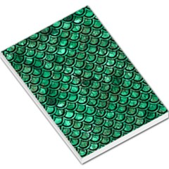 Scales2 Black Marble & Green Marble Large Memo Pads