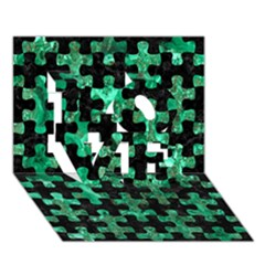 Puzzle1 Black Marble & Green Marble Love 3d Greeting Card (7x5) by trendistuff