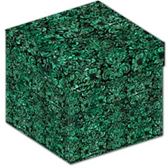 Damask2 Black Marble & Green Marble (r) Storage Stool 12