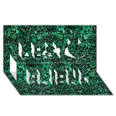 Damask2 Black Marble & Green Marble Best Friends 3d Greeting Card (8x4) by trendistuff