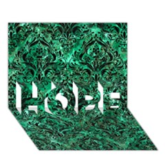 Damask1 Black Marble & Green Marble (r) Hope 3d Greeting Card (7x5) by trendistuff