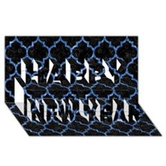 Tile1 Black Marble & Blue Marble (r) Happy New Year 3d Greeting Card (8x4)