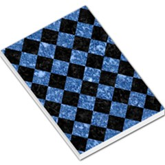 Square2 Black Marble & Blue Marble Large Memo Pads