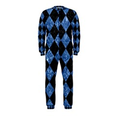 Square2 Black Marble & Blue Marble Onepiece Jumpsuit (kids) by trendistuff