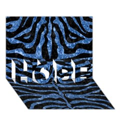 Skin2 Black Marble & Blue Marble (r) Hope 3d Greeting Card (7x5)