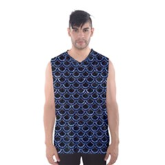 SCA2 BK-BL MARBLE (R) Men s Basketball Tank Top by trendistuff