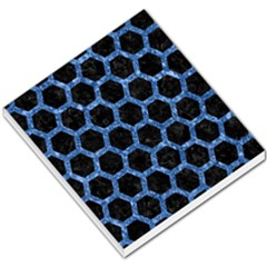 Hexagon2 Black Marble & Blue Marble (r) Small Memo Pads