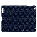 HEXAGON1 BLACK MARBLE & BLUE MARBLE (R) Apple iPad 3/4 Hardshell Case View1