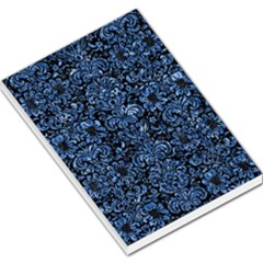 Damask2 Black Marble & Blue Marble (r) Large Memo Pads by trendistuff