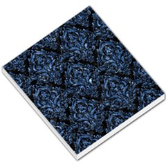 Damask1 Black Marble & Blue Marble Small Memo Pads