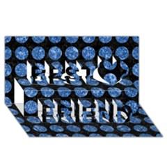 Circles1 Black Marble & Blue Marble (r) Best Friends 3d Greeting Card (8x4) by trendistuff