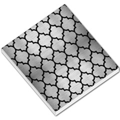 Tile1 Black Marble & Silver Brushed Metal (r) Small Memo Pads