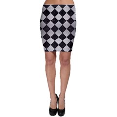 Square2 Black Marble & Silver Brushed Metal Bodycon Skirt by trendistuff