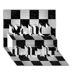 Square1 Black Marble & Silver Brushed Metal You Did It 3d Greeting Card (7x5) by trendistuff