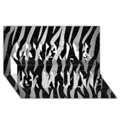 Skin3 Black Marble & Silver Brushed Metal Congrats Graduate 3d Greeting Card (8x4) by trendistuff