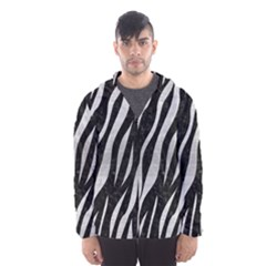 SKN3 BK MARBLE SILVER Hooded Wind Breaker (Men) by trendistuff