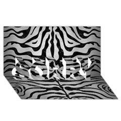 Skin2 Black Marble & Silver Brushed Metal (r) Sorry 3d Greeting Card (8x4)