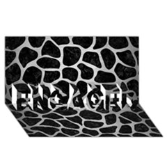 Skin1 Black Marble & Silver Brushed Metal (r) Engaged 3d Greeting Card (8x4)