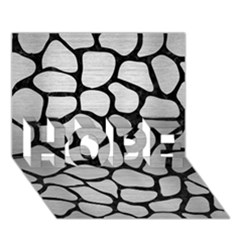 Skin1 Black Marble & Silver Brushed Metal Hope 3d Greeting Card (7x5) by trendistuff
