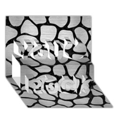 Skin1 Black Marble & Silver Brushed Metal You Rock 3d Greeting Card (7x5) by trendistuff