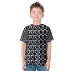 SCA2 BK MARBLE SILVER Kid s Cotton Tee by trendistuff