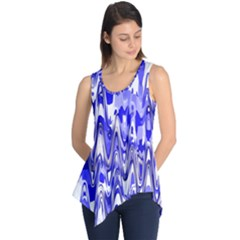 Funky Chevron Blue Sleeveless Tunic