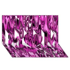 Funky Chevron Hot Pink Mom 3d Greeting Card (8x4)  by MoreColorsinLife