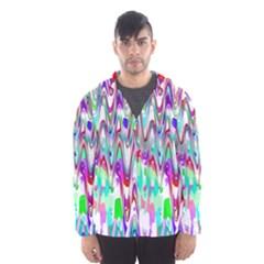 Funky Chevron Multicolor Hooded Wind Breaker (men) by MoreColorsinLife