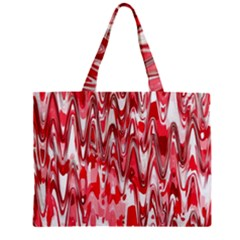 Funky Chevron Red Zipper Mini Tote Bag by MoreColorsinLife