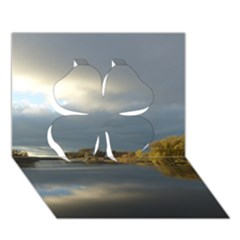View   On The Lake Clover 3d Greeting Card (7x5)