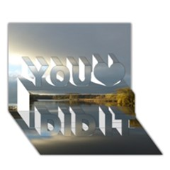 View   On The Lake You Did It 3d Greeting Card (7x5) by Costasonlineshop