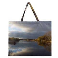 View   On The Lake Zipper Large Tote Bag