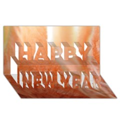 Floating Peach Happy New Year 3d Greeting Card (8x4)  by timelessartoncanvas