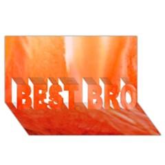 Floating Orange Best Bro 3d Greeting Card (8x4)