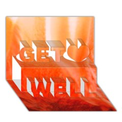 Floating Orange Get Well 3d Greeting Card (7x5)
