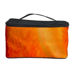 Floating Orange and Yellow Cosmetic Storage Cases by timelessartoncanvas