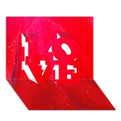 Red And Beautiful Love 3d Greeting Card (7x5)