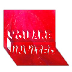Red And Beautiful You Are Invited 3d Greeting Card (7x5)  by timelessartoncanvas