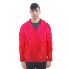 Red And Beautiful Hooded Wind Breaker (men) by timelessartoncanvas