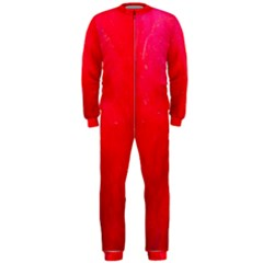 Red And Beautiful Onepiece Jumpsuit (men)  by timelessartoncanvas