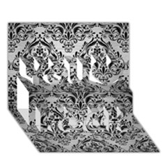 Damask1 Black Marble & Silver Brushed Metal (r) You Rock 3d Greeting Card (7x5) by trendistuff