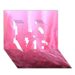 Floating Pink Love 3d Greeting Card (7x5)