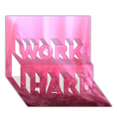 Floating Pink Work Hard 3d Greeting Card (7x5)