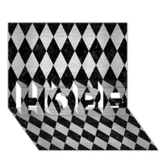 Diamond1 Black Marble & Silver Brushed Metal Hope 3d Greeting Card (7x5) by trendistuff